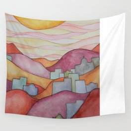 Colorful Hillsides Wall Tapestry