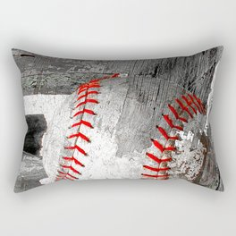 Baseball art vs 13 Rectangular Pillow