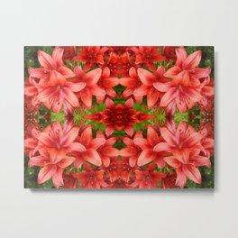 """A Gathering of Lilies"" Remix - 5 (4-1) [D4471~15] Metal Print"