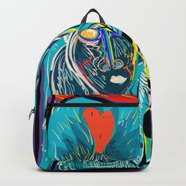 Red Fish and a Spirit of Love Street Art Graffiti Backpack
