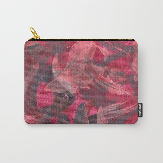 Impetuous, Abstract Art Painting Red Copper Gray Carry-All Pouch