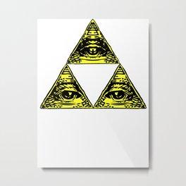 all seeing triforce Metal Print