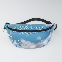 Wintery Blue Christmas Card Fanny Pack