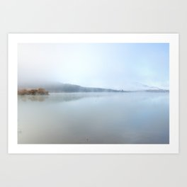 """Wild sunrise"". Foggy lake Art Print"