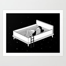 Bed for crying Art Print