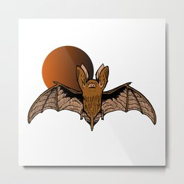 Ronald the Bat Metal Print