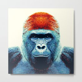 Gorilla -  Colorful Animals Metal Print
