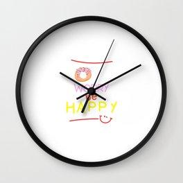 Donut Worry Wall Clock