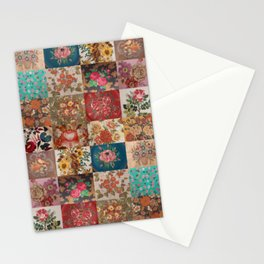 Gypsy Vintage Patchwork Stationery Cards