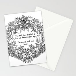 The Best Time To Plant a Tree Stationery Cards
