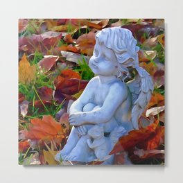 Fall-en angel and friend Metal Print