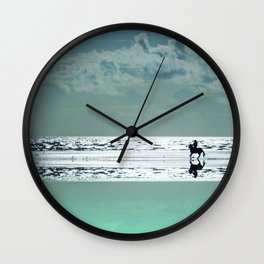 Riding Silver Sands Wall Clock