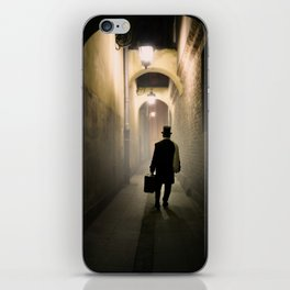 Victorian man with top hat iPhone Skin