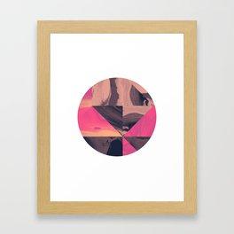Triangular Magma Framed Art Print