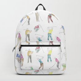 Watercolor Golfers Backpack