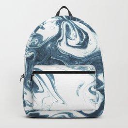 Marble swirl suminagashi minimal ocean waves watercolor ink marbled japanese art Backpack