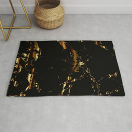 Black and Gold Marble Design Rug