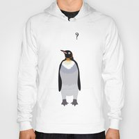 penguin Hoodies featuring Penguin by Nir P