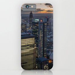 Frankfurt Germany megalopolis Evening Skyscrapers Cities Building Megapolis Houses iPhone Case