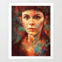 She was always a lonely child. Art Print