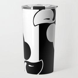 lower black white silhouette Travel Mug