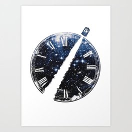 Journey through space and time Art Print