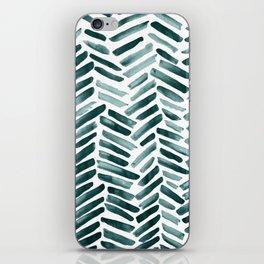 Aquamarine Strokes iPhone Skin