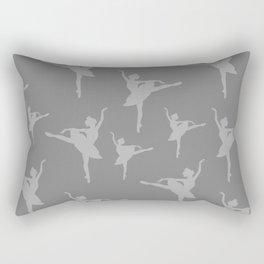 Grey Ballerinas Rectangular Pillow