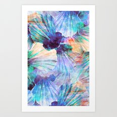 Ocean seashells Art Print