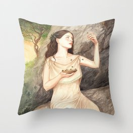 Melissa ~ A Compendium Of Witches Throw Pillow