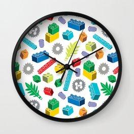 Colourful Building Blocks Wall Clock