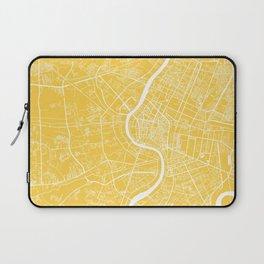 Bangkok map yellow Laptop Sleeve