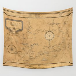 Map of Cape Cod 1931 Wall Tapestry