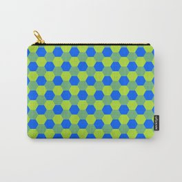 Yellow and blue honeycomb pattern Carry-All Pouch