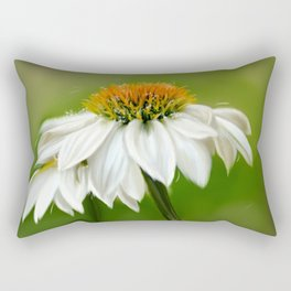 Little White Cone Flower Rectangular Pillow