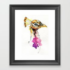 Sunset Peacock Framed Art Print