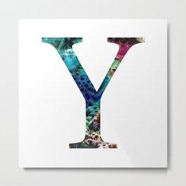 """Initial letter """"Y"""" Metal Print"""