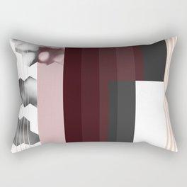 Striped Burgundy Deco Accent Rectangular Pillow