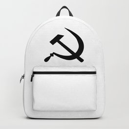 Hammer And Sickle Russia Emblem Silhouette Backpack