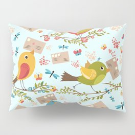 Special Springtime Delivery From Little Birds Pattern Pillow Sham