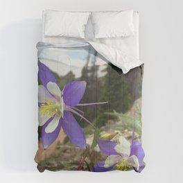 Watercolor Flower, Columbine 06, Fall River Road, RMNP, Colorado Comforters