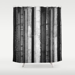High Contrast Industrial Abstract Shower Curtain