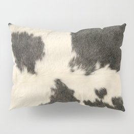 Black & White Cow Hide Pillow Sham