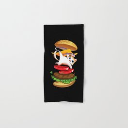 Hamburger Cat Hand & Bath Towel