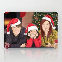 allison argent iPad Cases featuring Merry Christmas - Argent Family by Finduilas