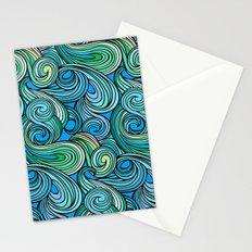 Stylized Boho Wave Pattern Stationery Cards