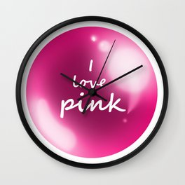 esfera rosa Wall Clock