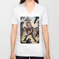 resident evil V-neck T-shirts featuring Resident Evil 4 by Max Grecke