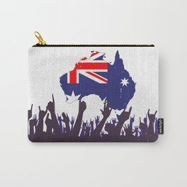 Australian Map And Flag with Audience Carry-All Pouch