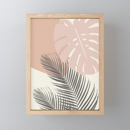 Minimal Monstera Palm Finesse #4 #tropical #decor #art #society6 Framed Mini Art Print